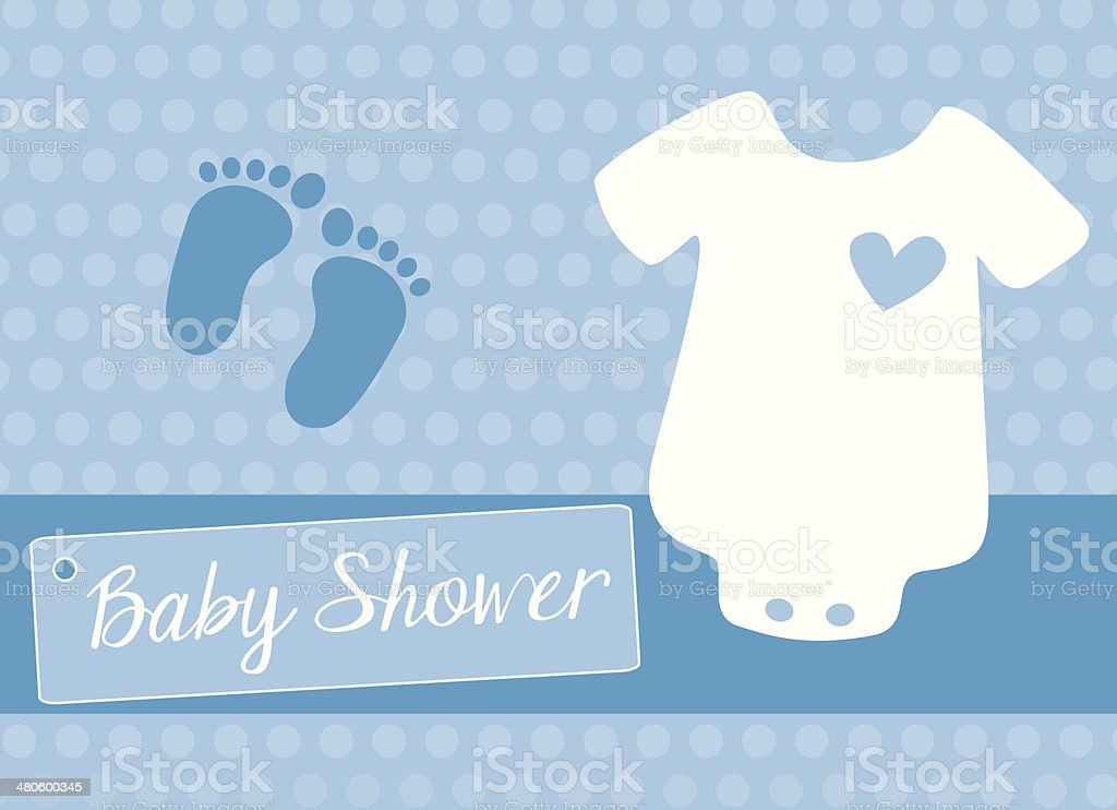 Ilustración de Bebé Body Blanca Con Azul Corazón Rendimiento Y ...