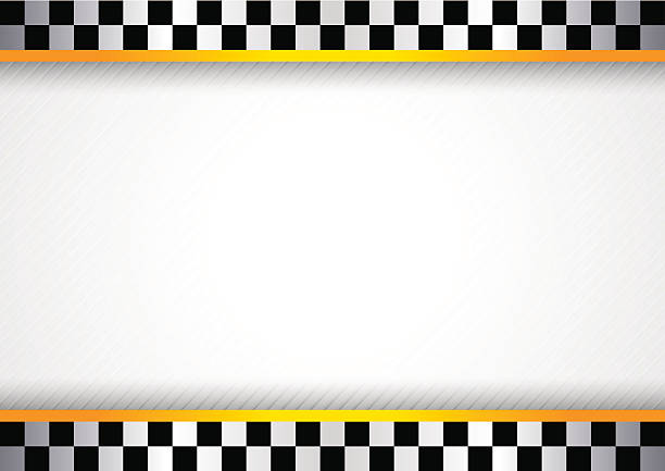 White background featuring checkered flag border Vector illustration saved in file format EPS v. 10 and contains transparent effect. auto racing stock illustrations