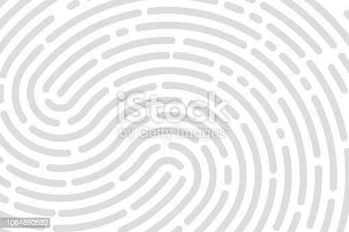 White background fingerprint