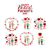 istock white background set full body elderly couple inlove happy grand parents day 859917166