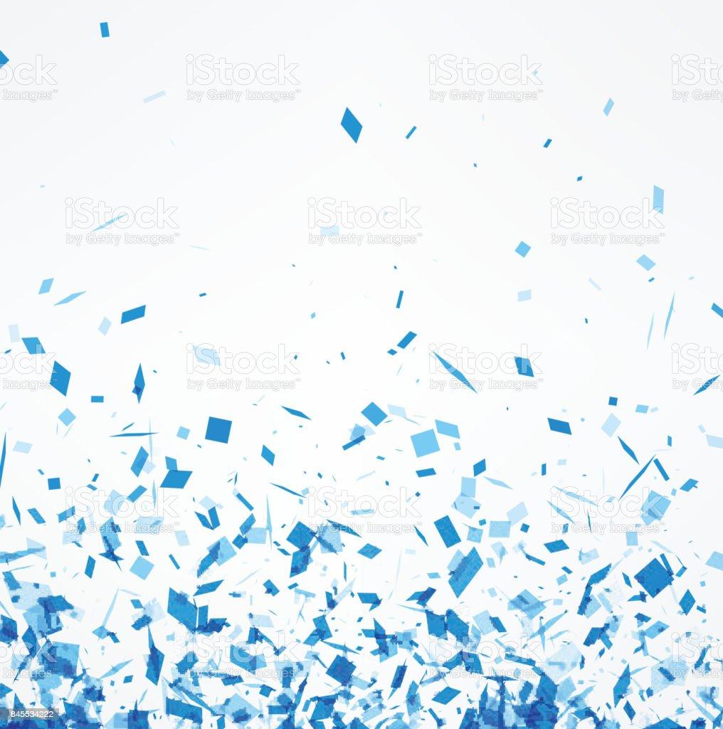 Fond blanc avec des confettis bleu. fond blanc avec des confettis bleu vecteurs libres de droits et plus d'images vectorielles de abstrait libre de droits