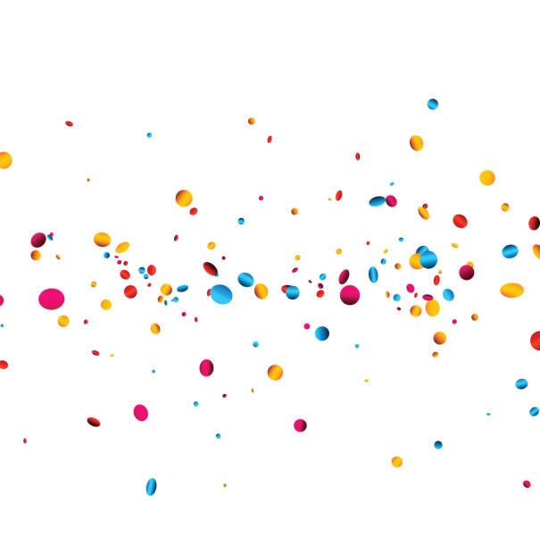 White background with colorful confetti. – Vektorgrafik