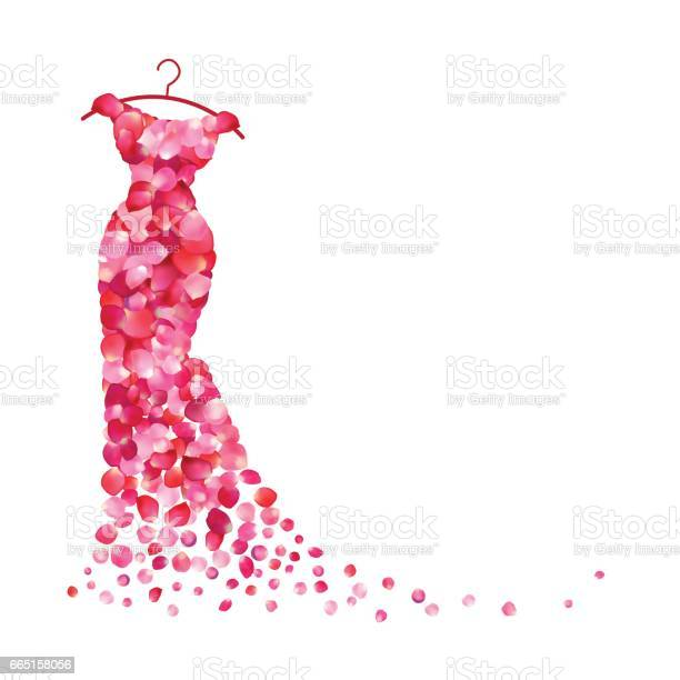 White background with dress of pink petals vector id665158056?b=1&k=6&m=665158056&s=612x612&h=zbklzoevgtv9onkue64uiedr5kjlo5yaseiucvaxjty=
