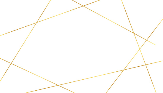 white background with golden luxury lines shapes