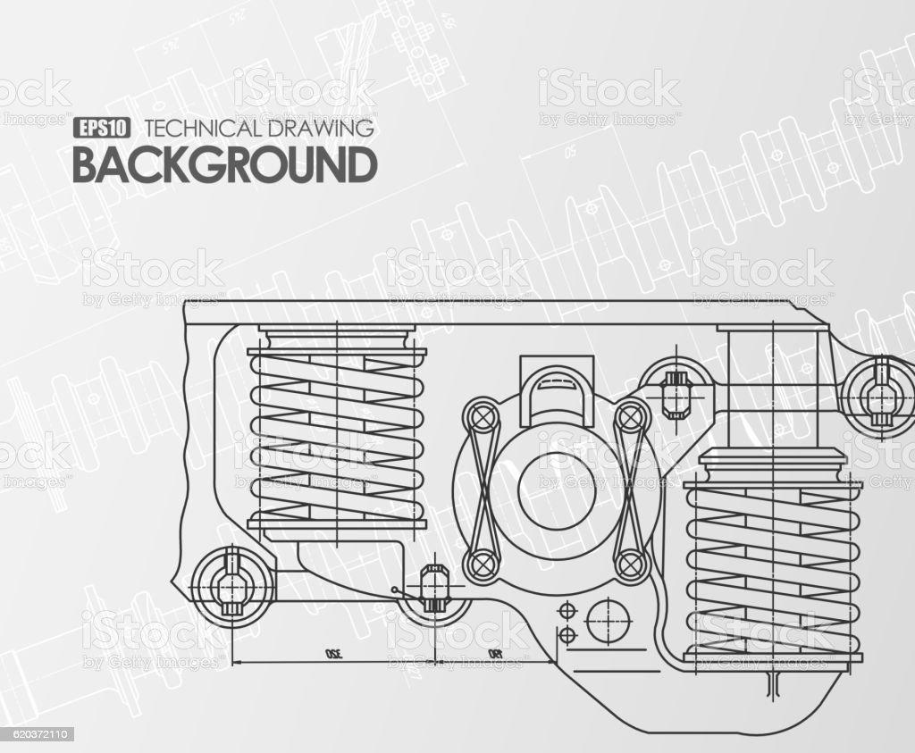 White background with technical drawings white background with technical drawings - stockowe grafiki wektorowe i więcej obrazów abstrakcja royalty-free