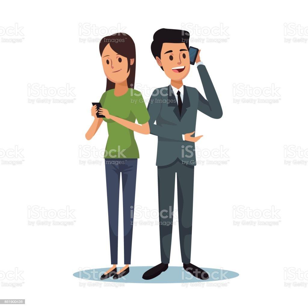 Traje formal para mujer y hombre