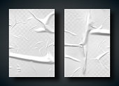 istock White bad glued paper with wrinkles and folds 1171159724