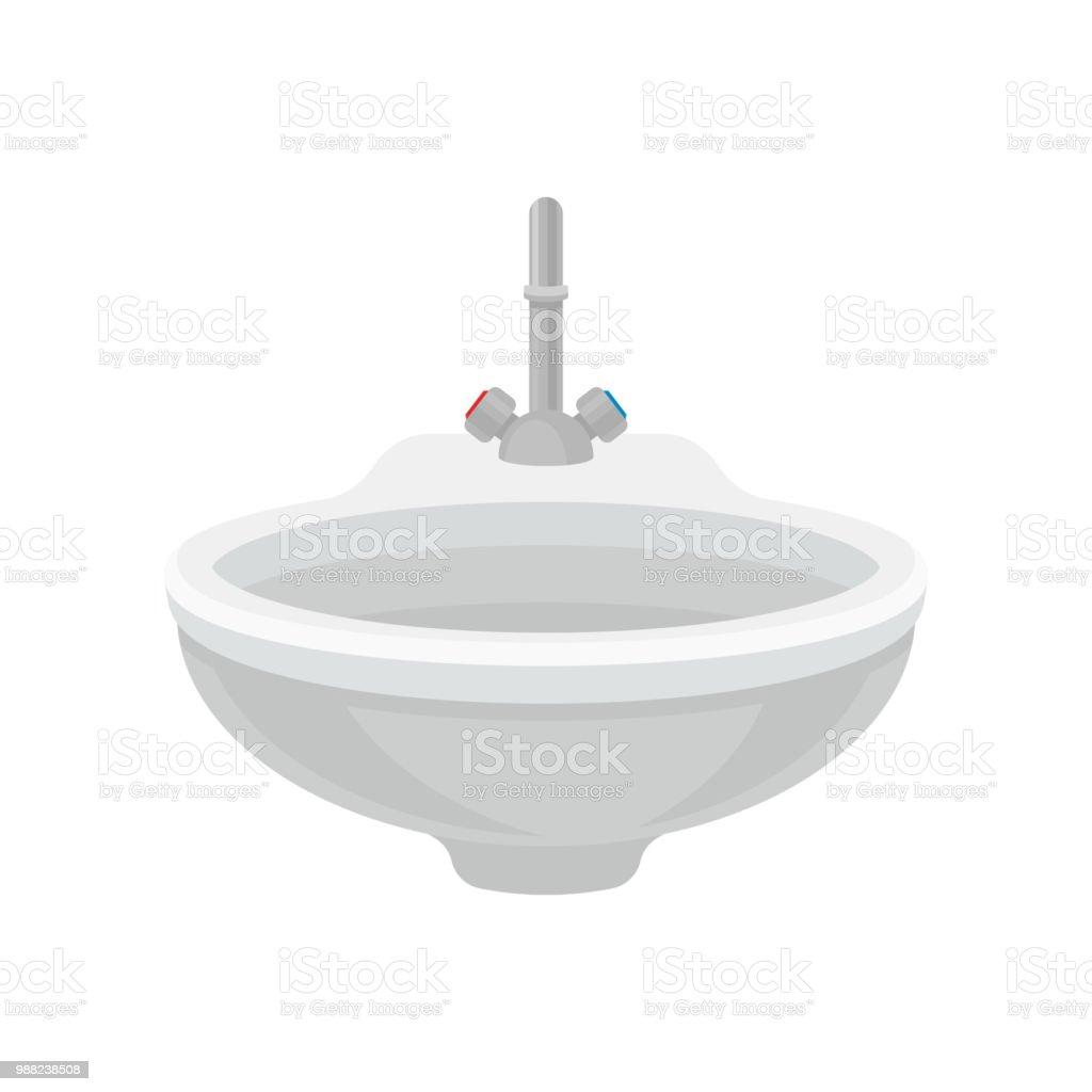 Salle De Bain Allemagne lavabo en céramique blanc avec robinet mitigeur métallique