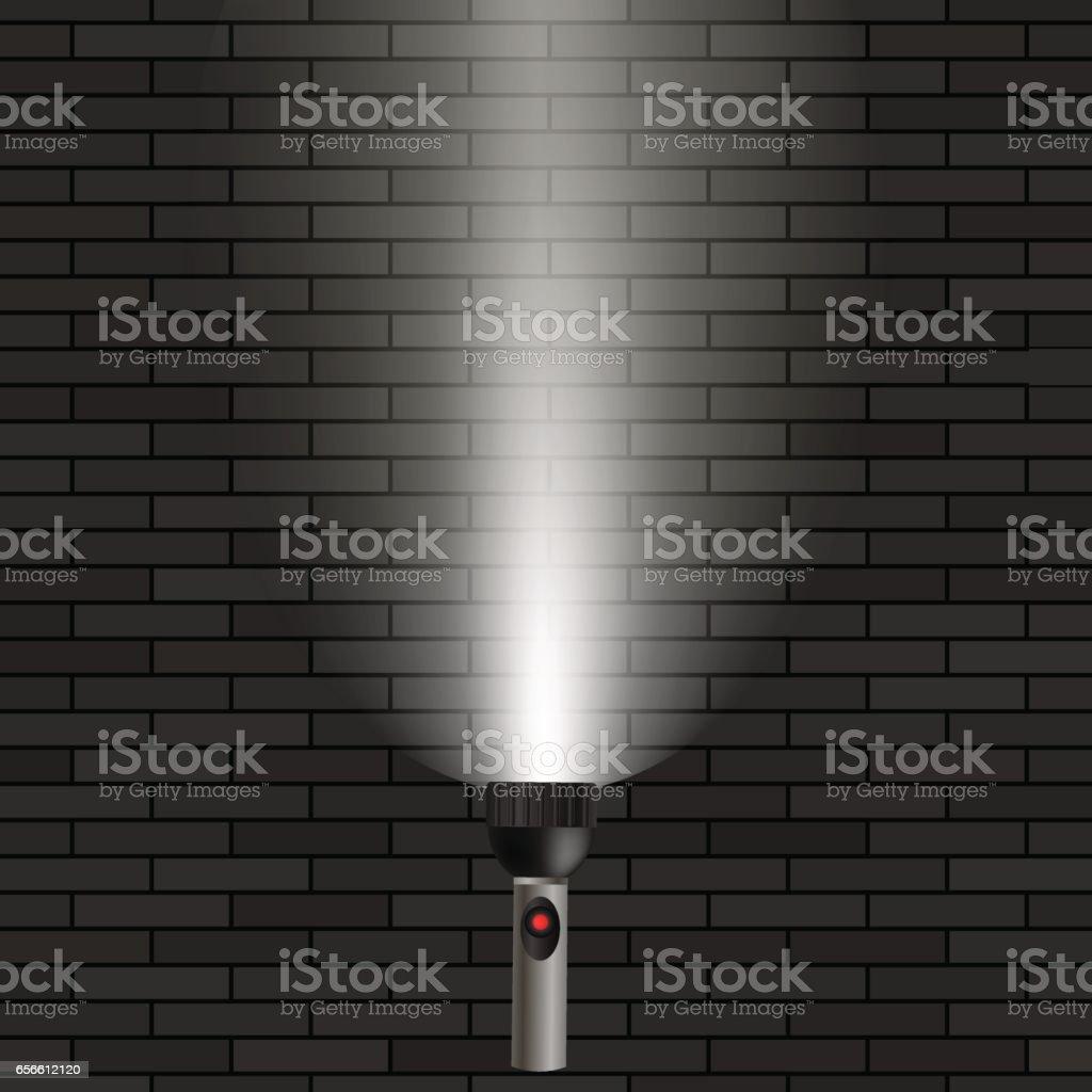 White Beam of Light vector art illustration