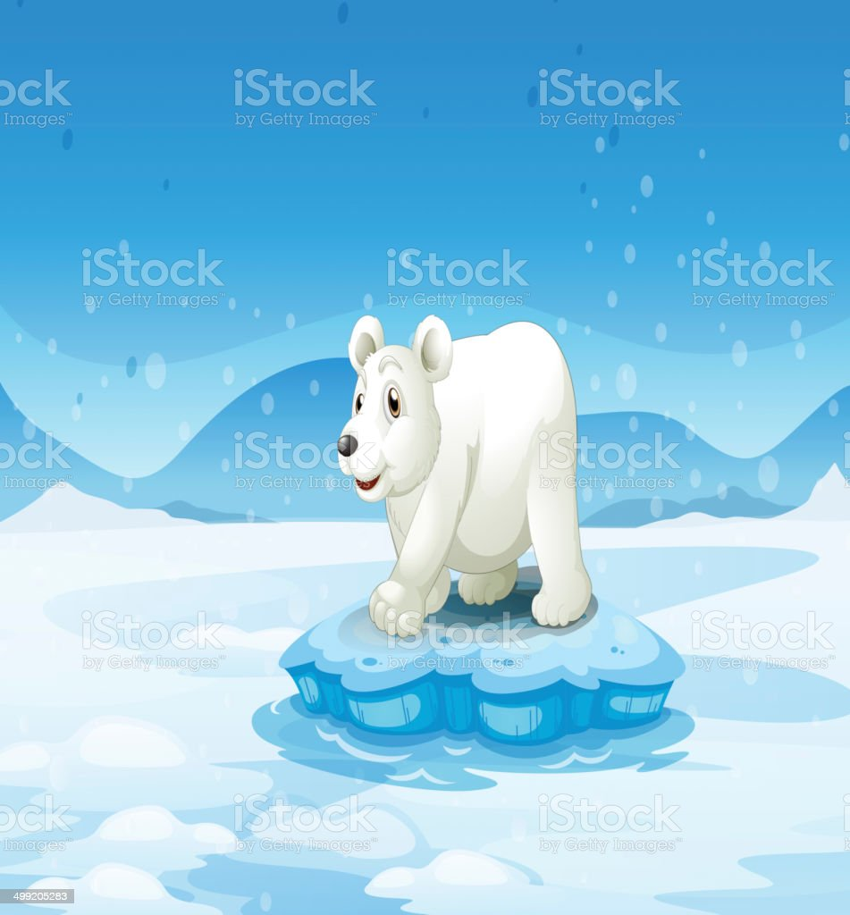 White bear standing above the iceberg royalty-free white bear standing above the iceberg stock vector art & more images of animal