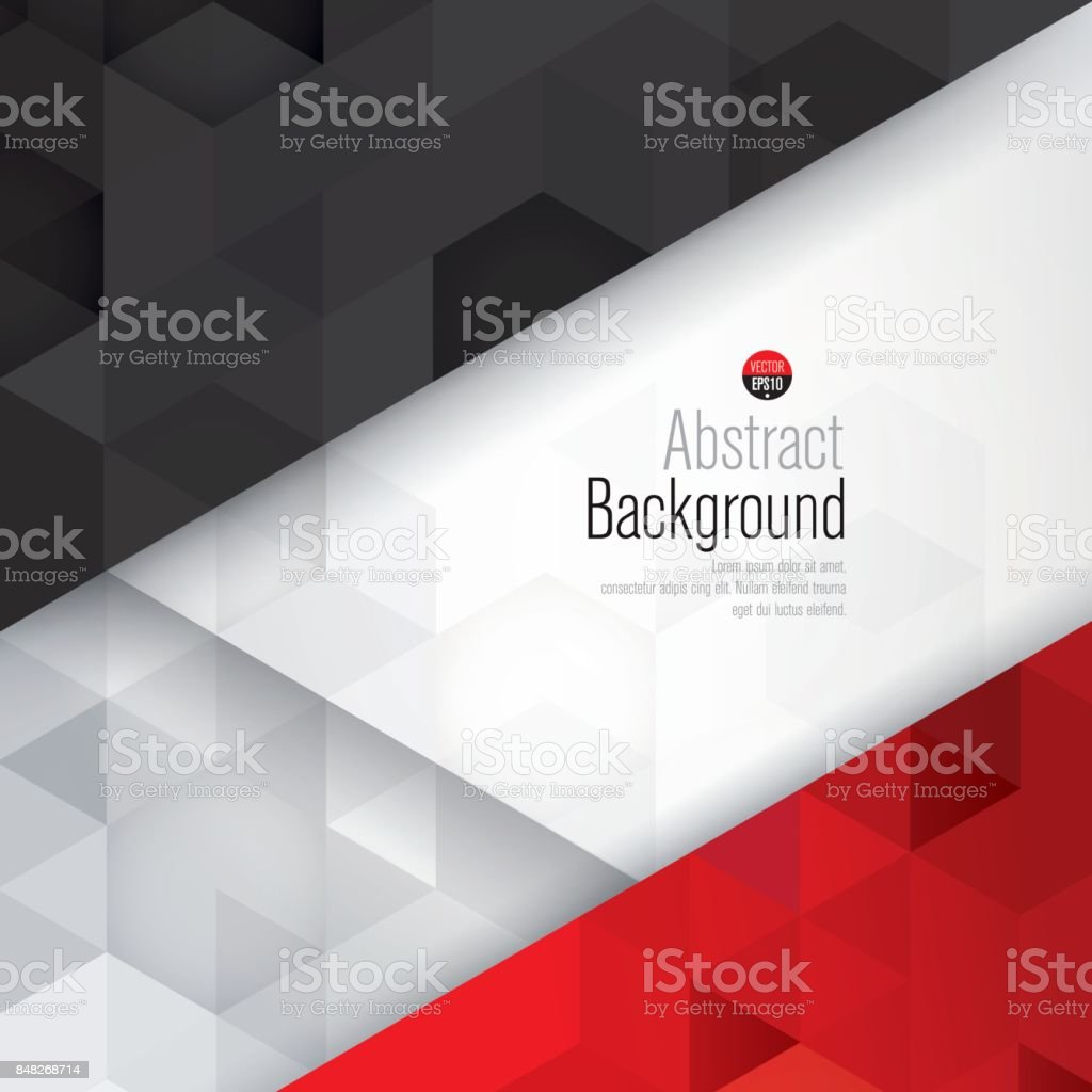 White black and red abstract background vector.