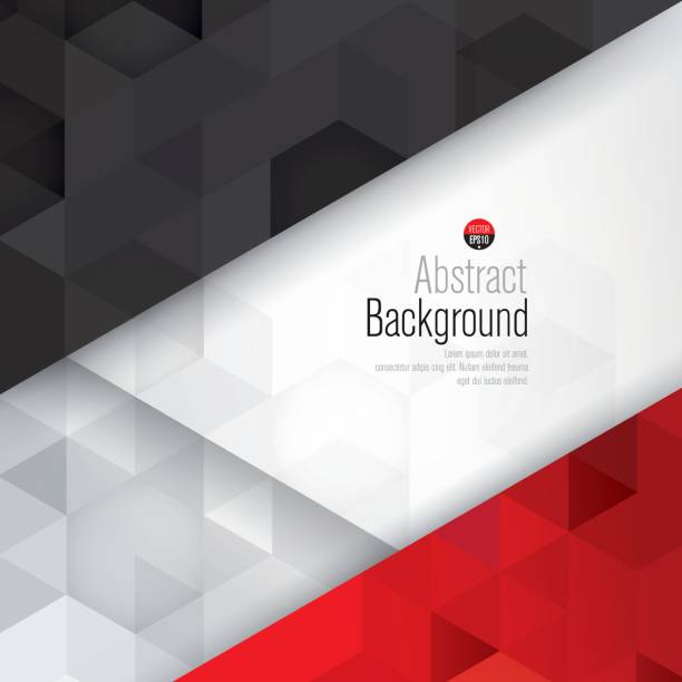 White black and red abstract background vector. vector art illustration