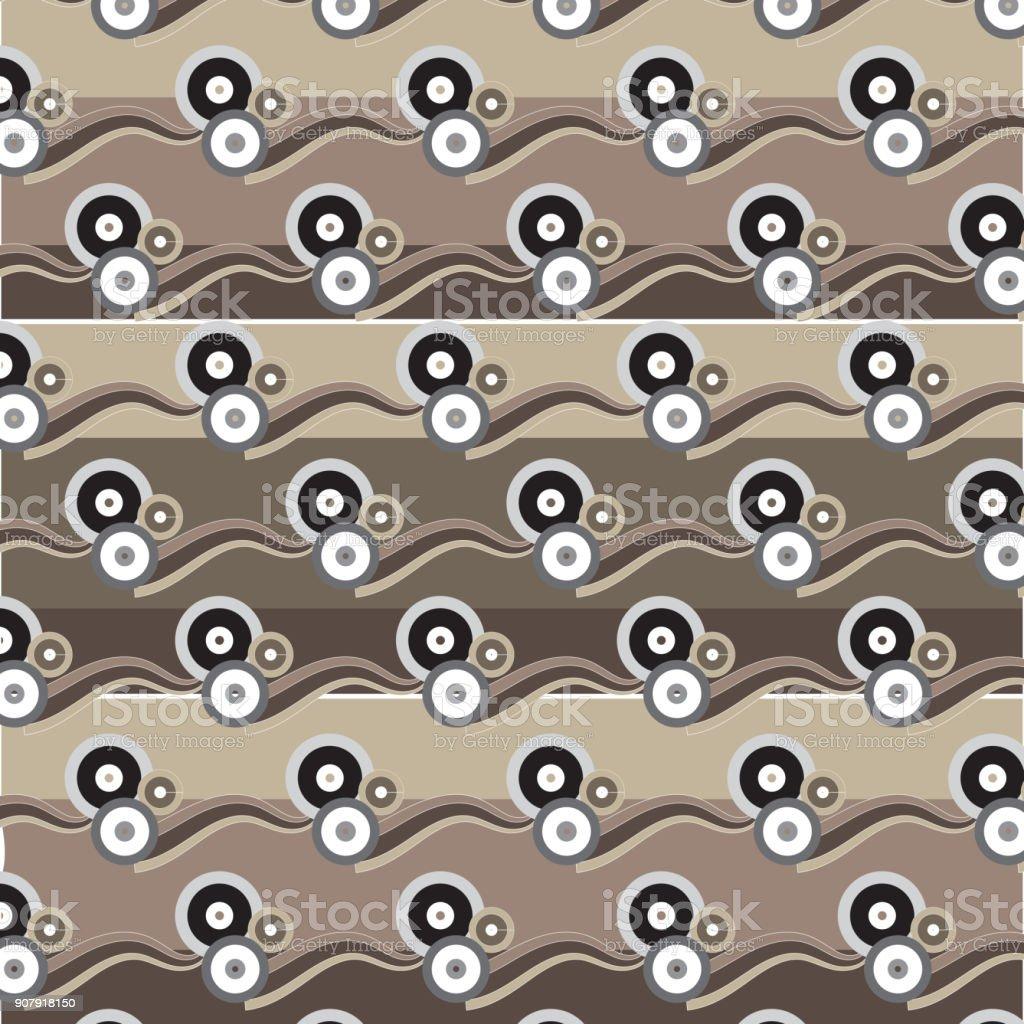 Ilustracion De Grupo Circulo Marron Plata Negro Blanco Con El - El-color-marron