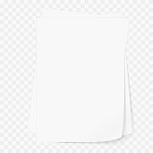 White blank A4 paper. Templates for presentation of the design of a flyer, cover or poster. Vector illustration, mockup brochure