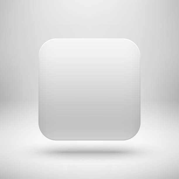 White Blank App Icon Button Template Stock Vector Art & More Images ...