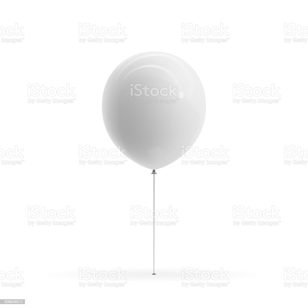 White blank Balloon realistic Mockup vector art illustration