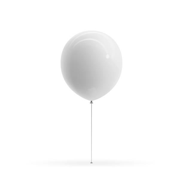 White blank Balloon realistic Mockup White blank Balloon realistic Mockup. Vector Illustration birthday silhouettes stock illustrations