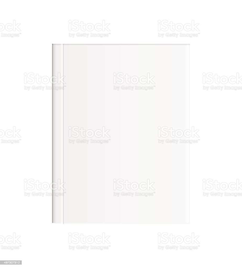 white blank book vector art illustration