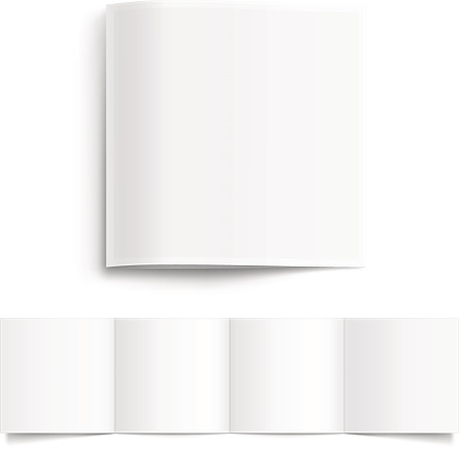 White Blank Booklet