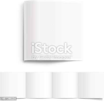 Vector white blank booklet. The square shape of the booklet.