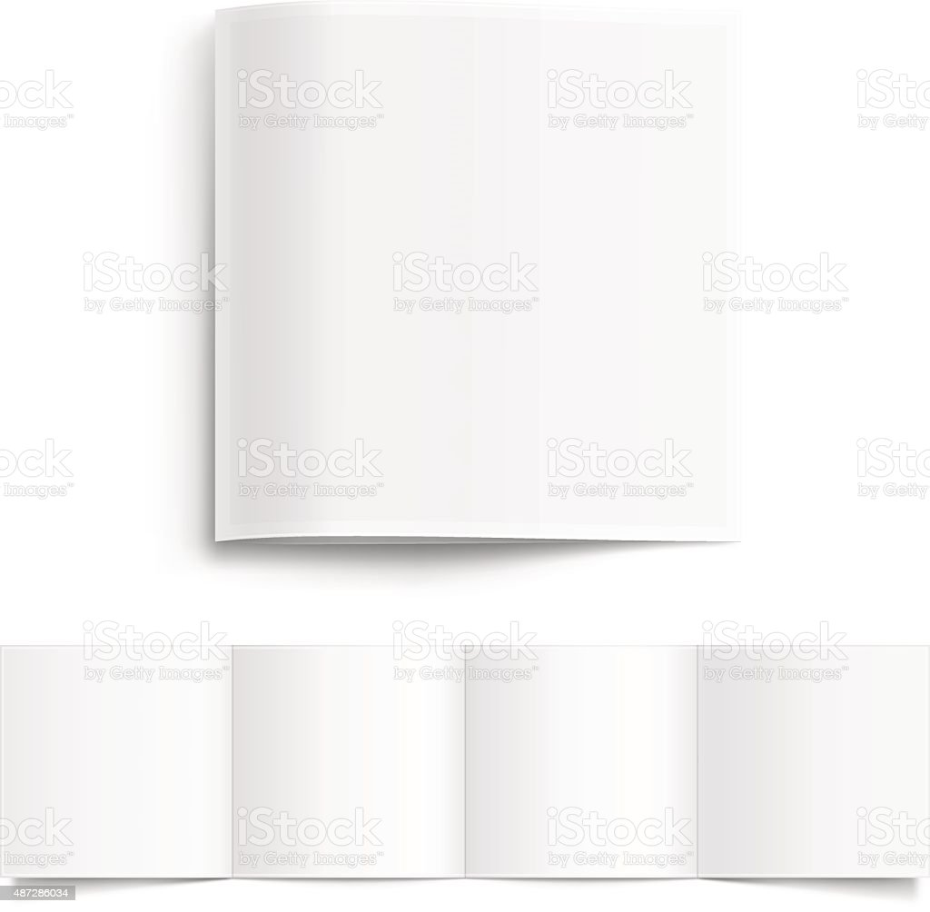 White Blank Booklet vector art illustration