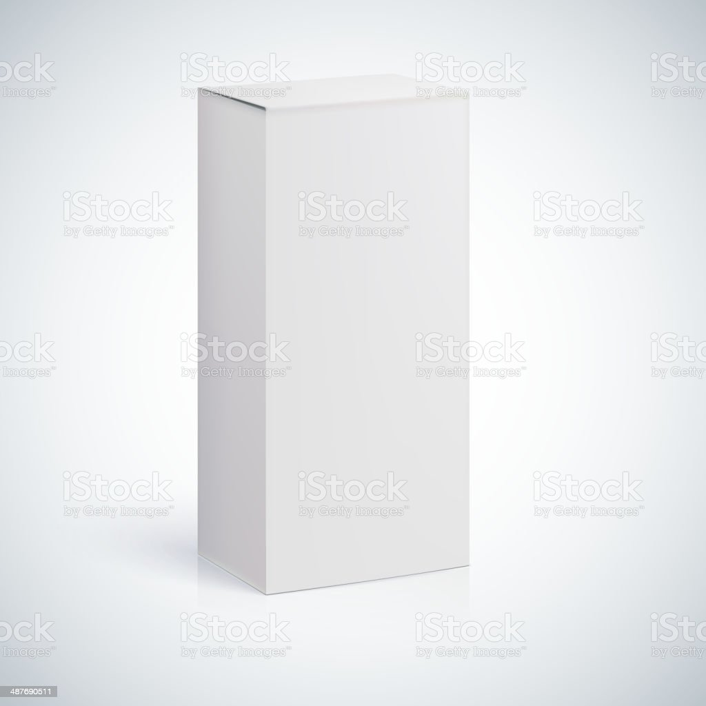 White blank box with empty space vector art illustration