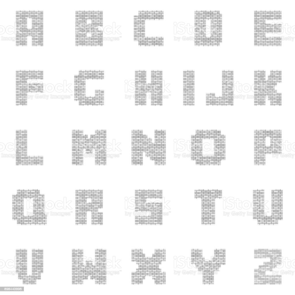 White Blank Brick Letters