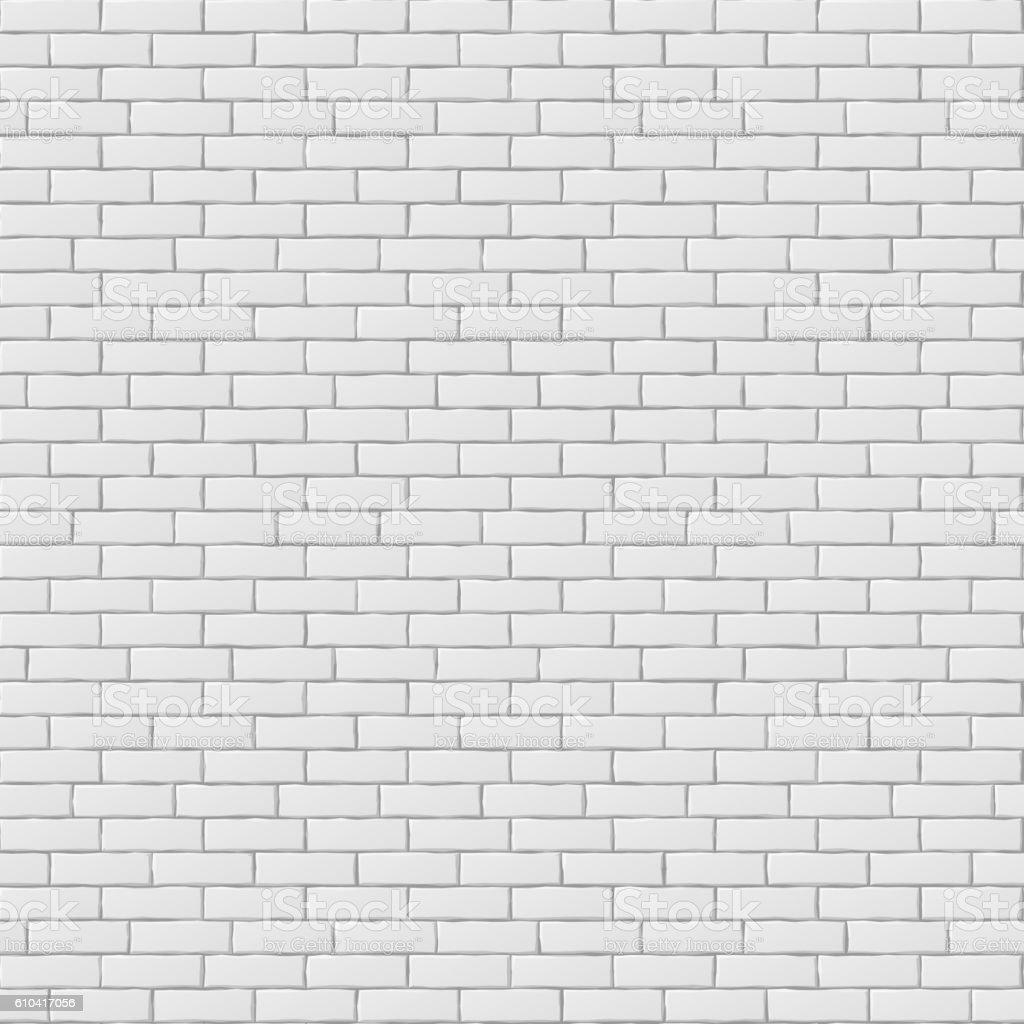White blank brick wall seamless pattern texture vector art illustration