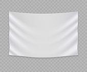white blank flag or banner template