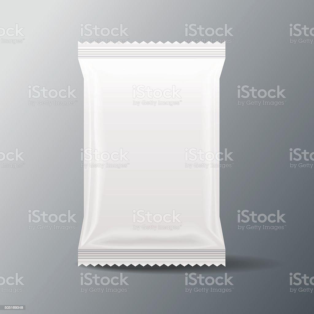 white Blank Food Bag Packaging vector art illustration