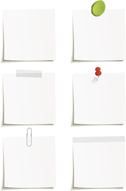 бумага для заметок - post it notes stock illustrations