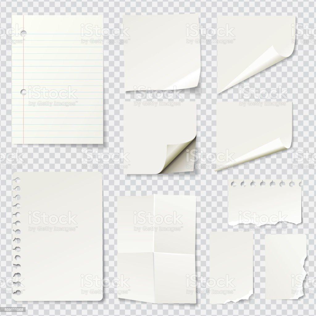 Weiße Blankopapier Notizen - Lizenzfrei Bildhintergrund Vektorgrafik