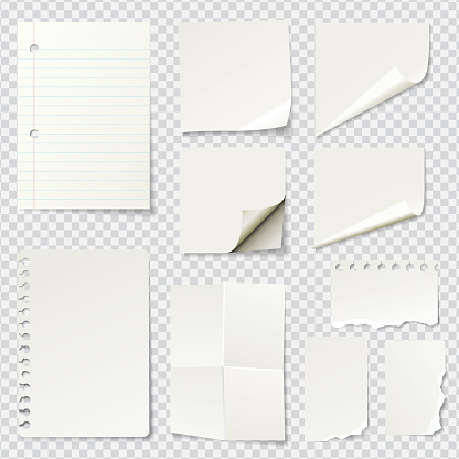 White Blank Paper Notes