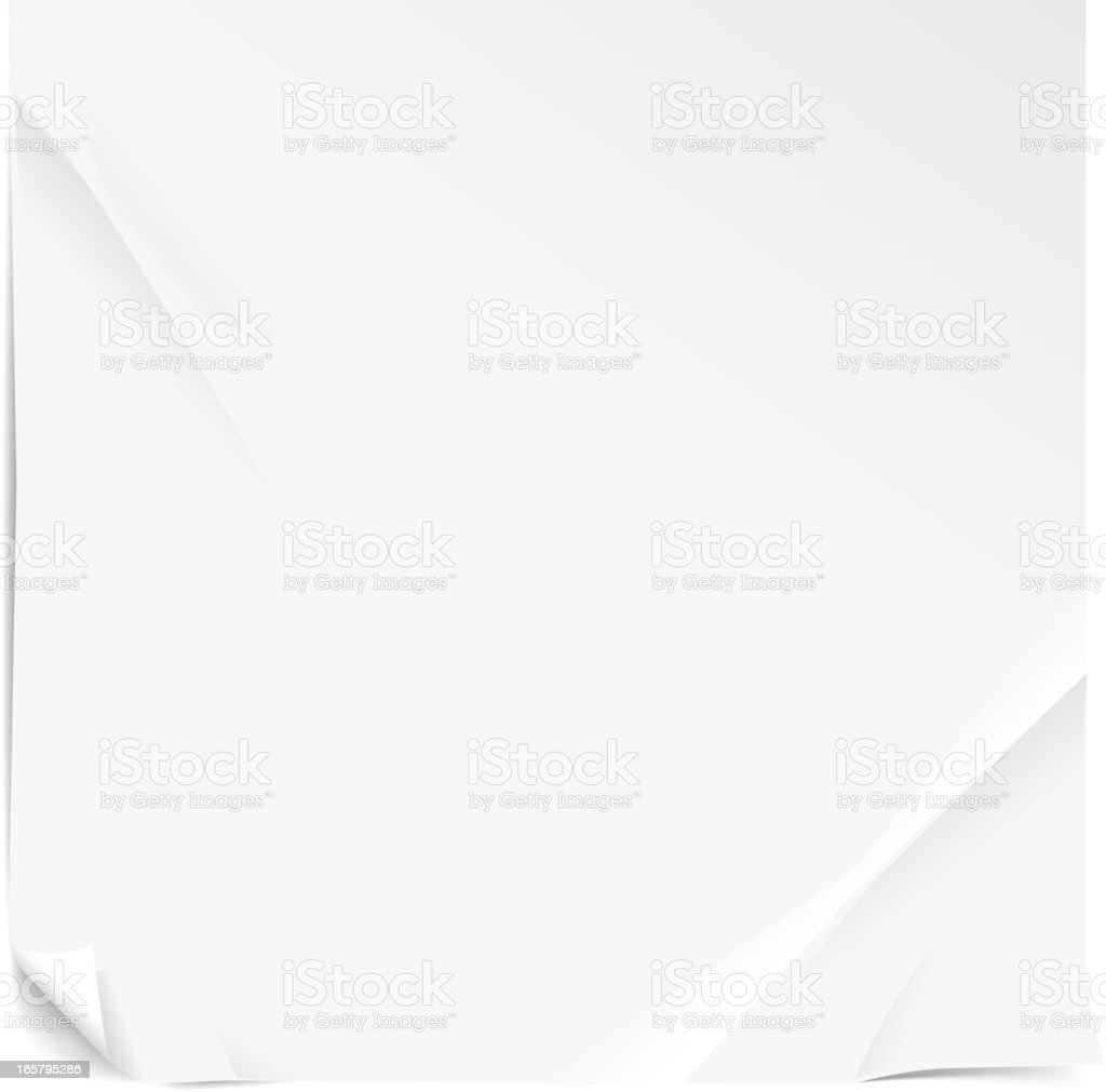 white blank paper vector art illustration