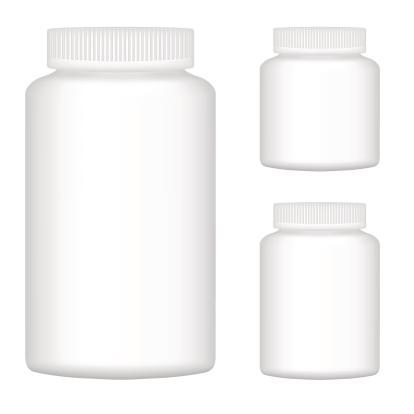 White Blank Plastic Bottle Set Of Three For Packaging Design Stock Illustration - Download Image Now