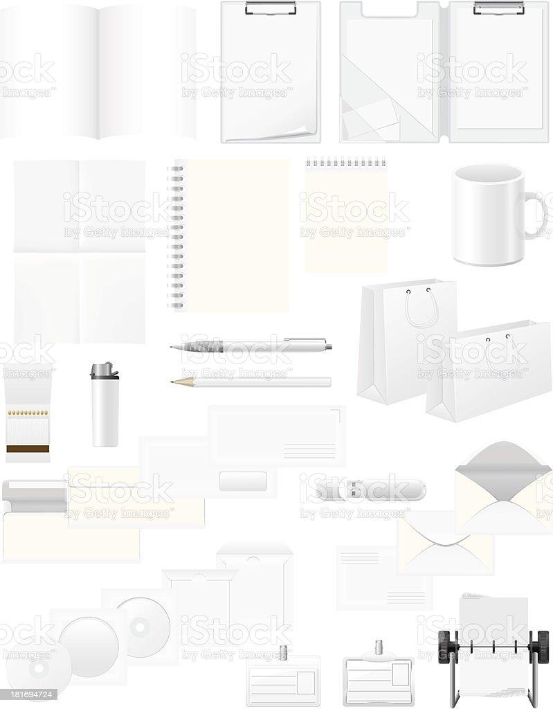 white blank samples for corporate identity design vector illustration vector art illustration