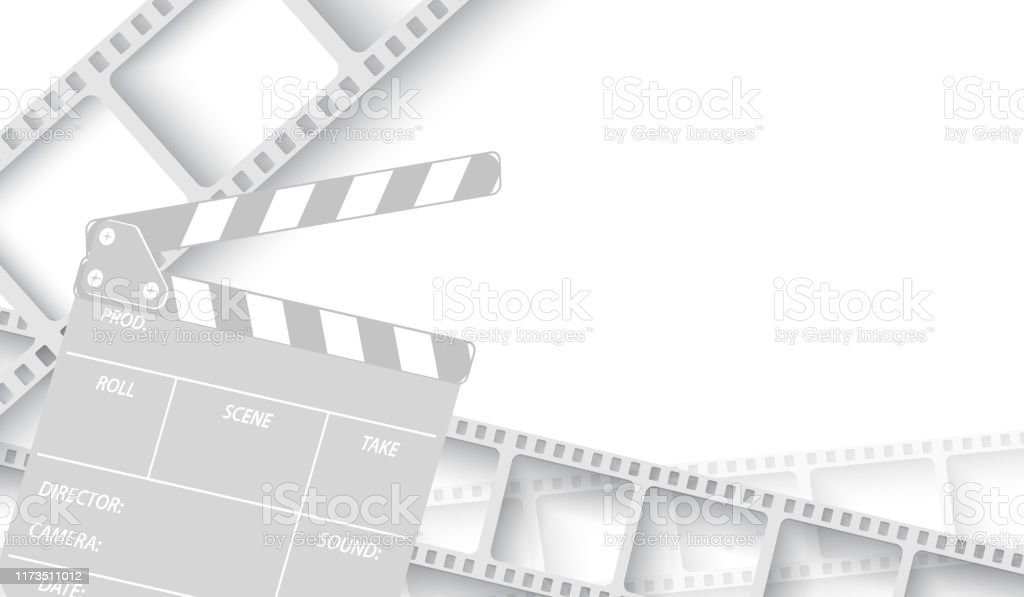 white blank with film strip frame and clapperboard isolated on white background design template cinema with space for your text vector cinema background brochure tickets flyer leaflet eps 10 stock illustration white blank with film strip frame and clapperboard isolated on white background design template cinema with space for your text vector cinema background brochure tickets flyer leaflet eps 10 stock illustration