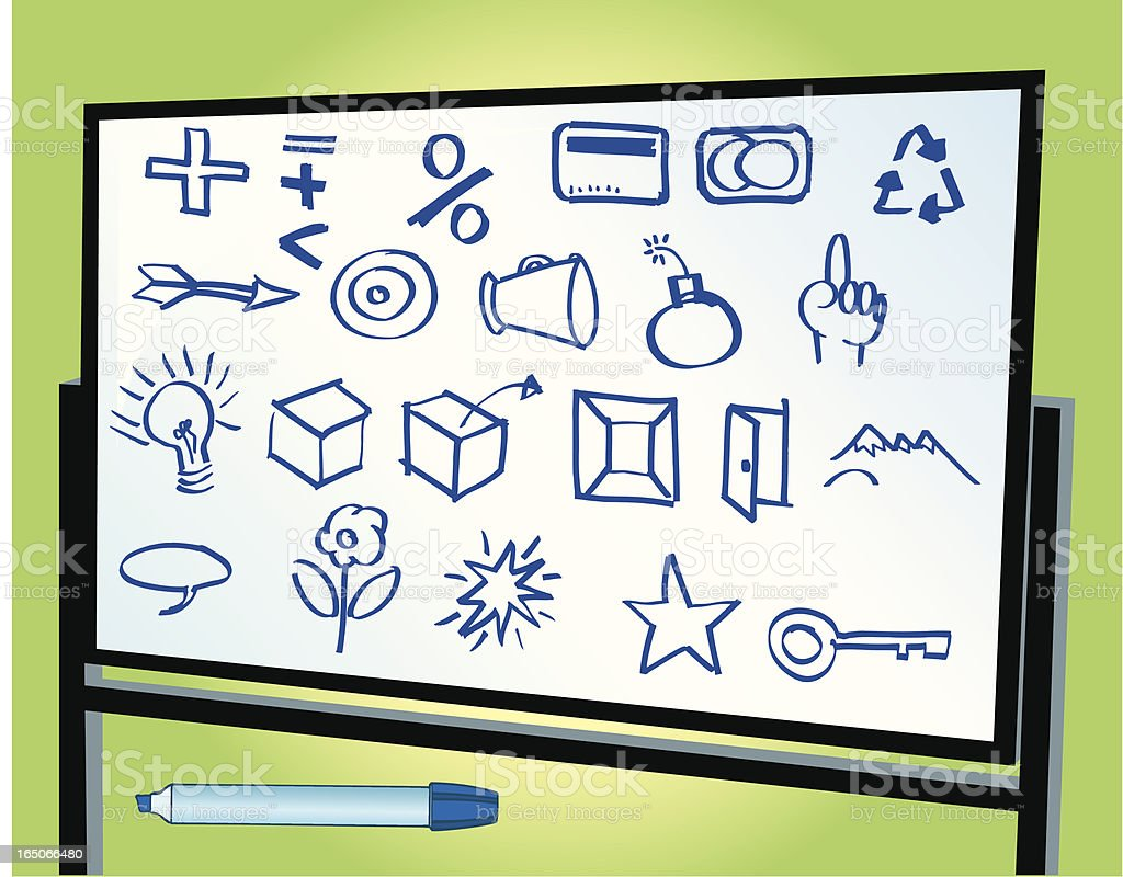 White Board Business Concepts - Doodles royalty-free stock vector art