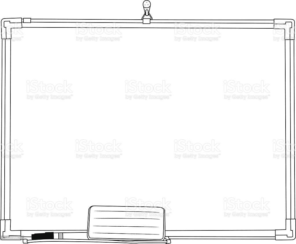 Pizarra blanca ilustración de pizarra blanca y más banco de imágenes de blanco - color libre de derechos