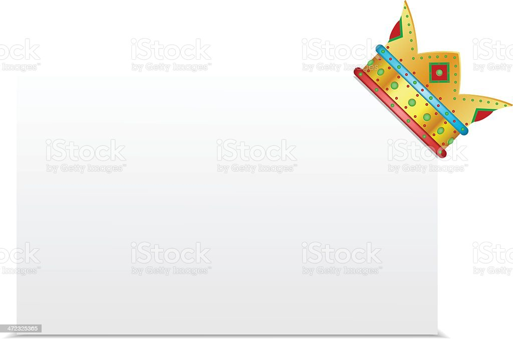 White board with crown royalty-free stock vector art