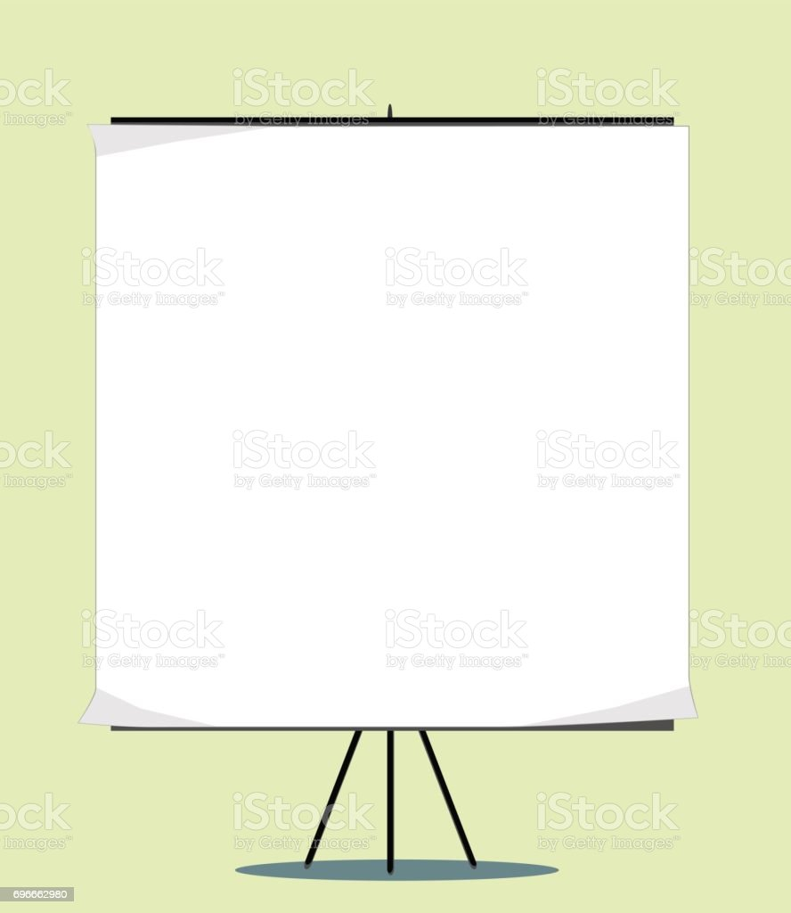 White board with empty space for your message vector art illustration
