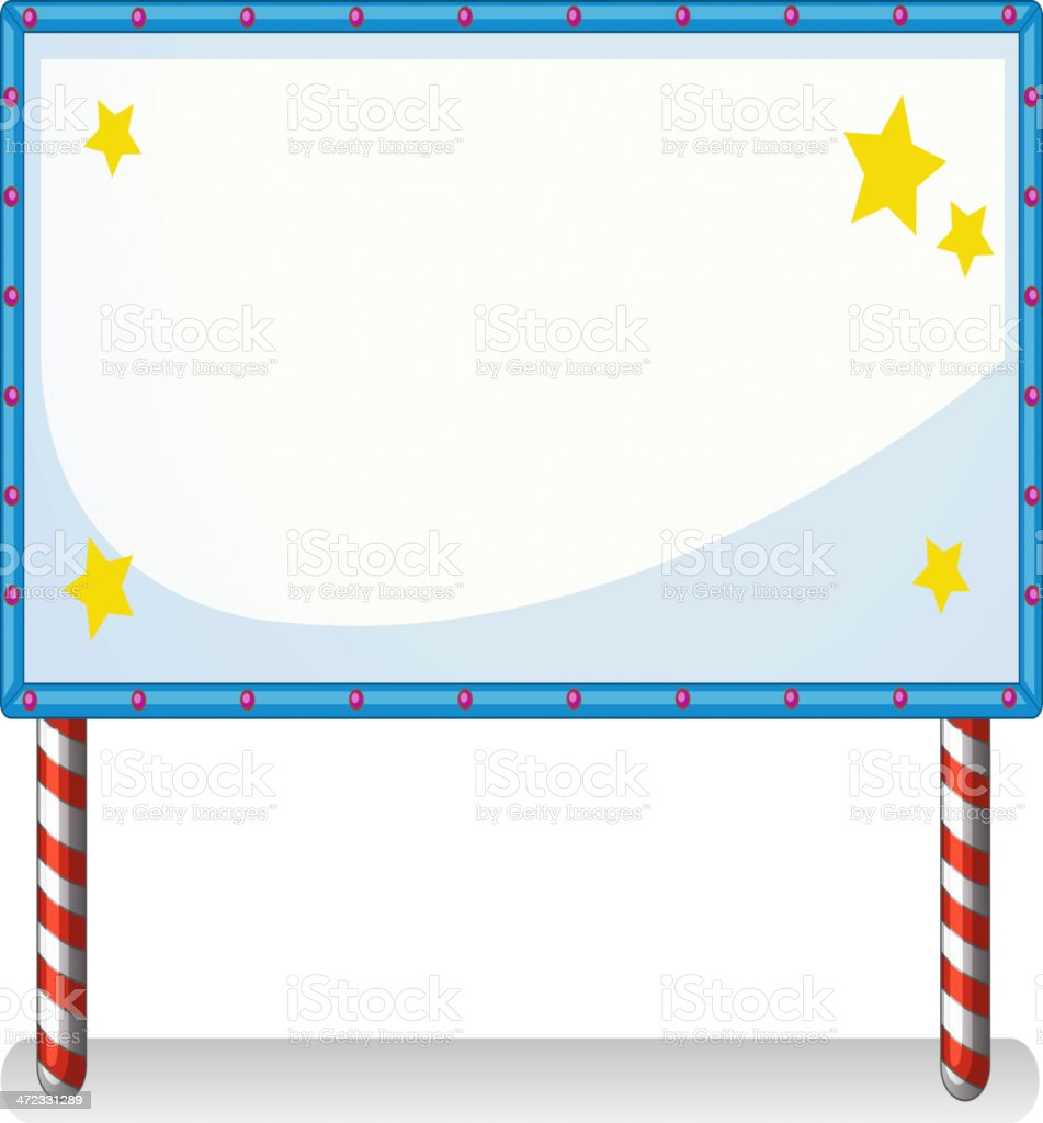 White board with series lights royalty-free stock vector art