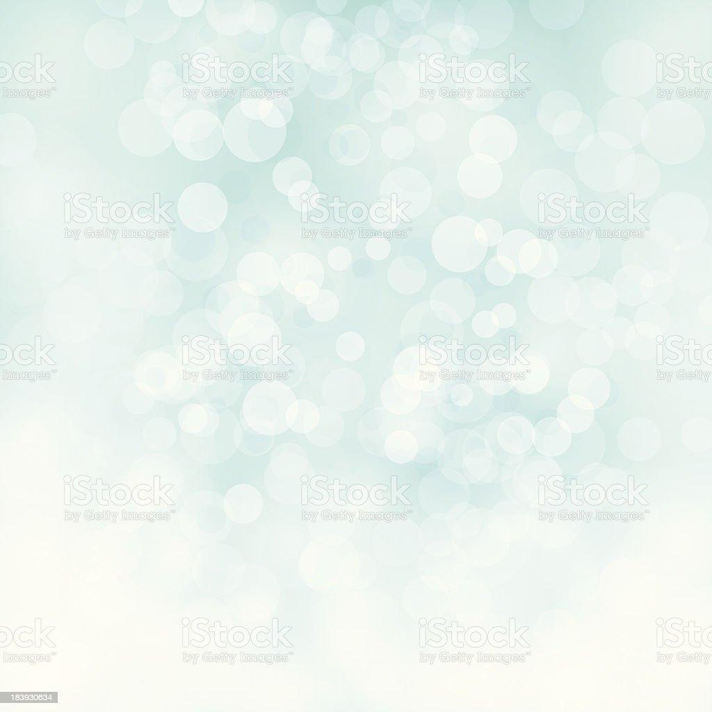 White bokeh on pale green vector background vector art illustration