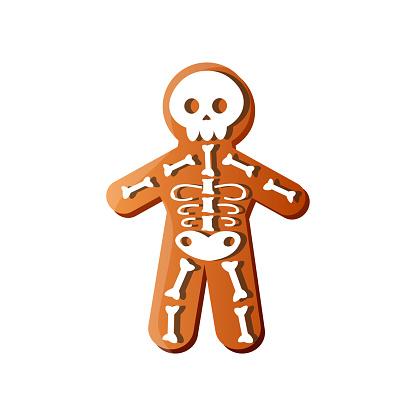 White bone skeleton gingerbread holiday halloween candy