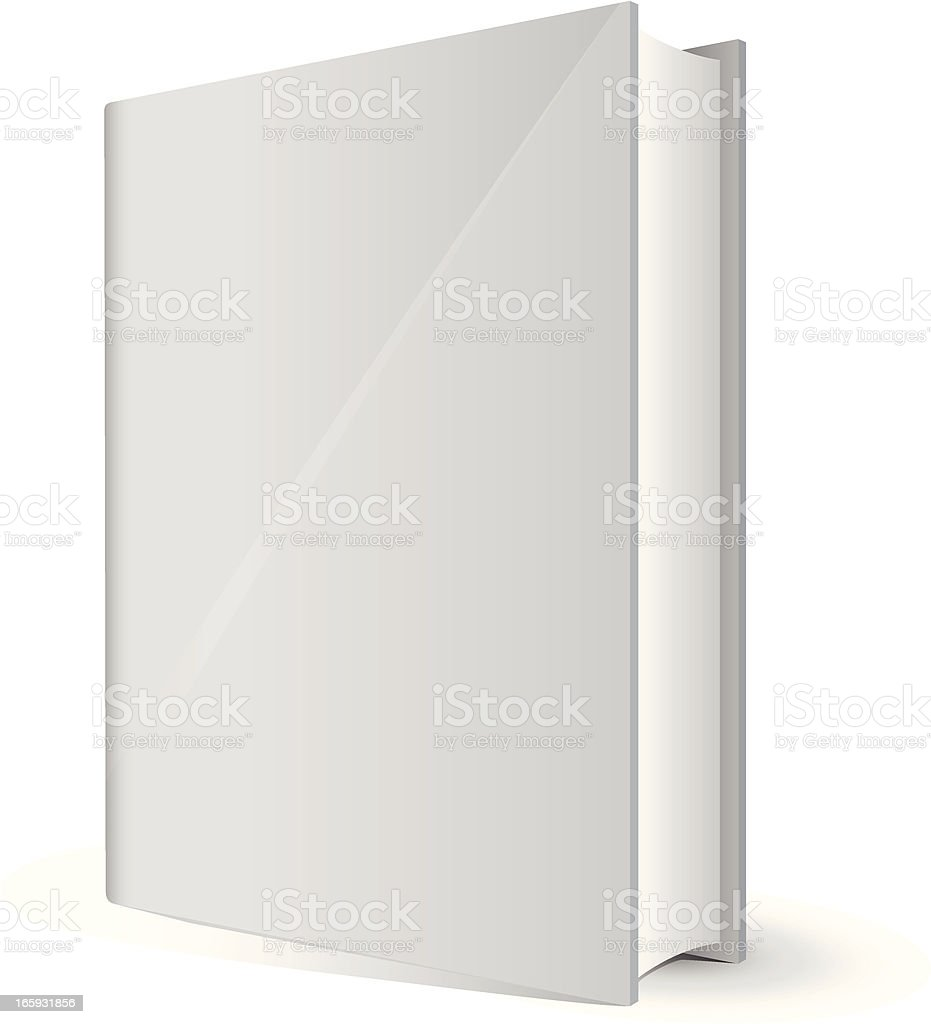 White book with blank front cover vector art illustration