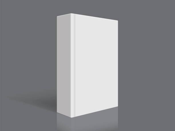illustrations, cliparts, dessins animés et icônes de livre blanc avec couverture épaisse isolée sur fond noir - ellen page