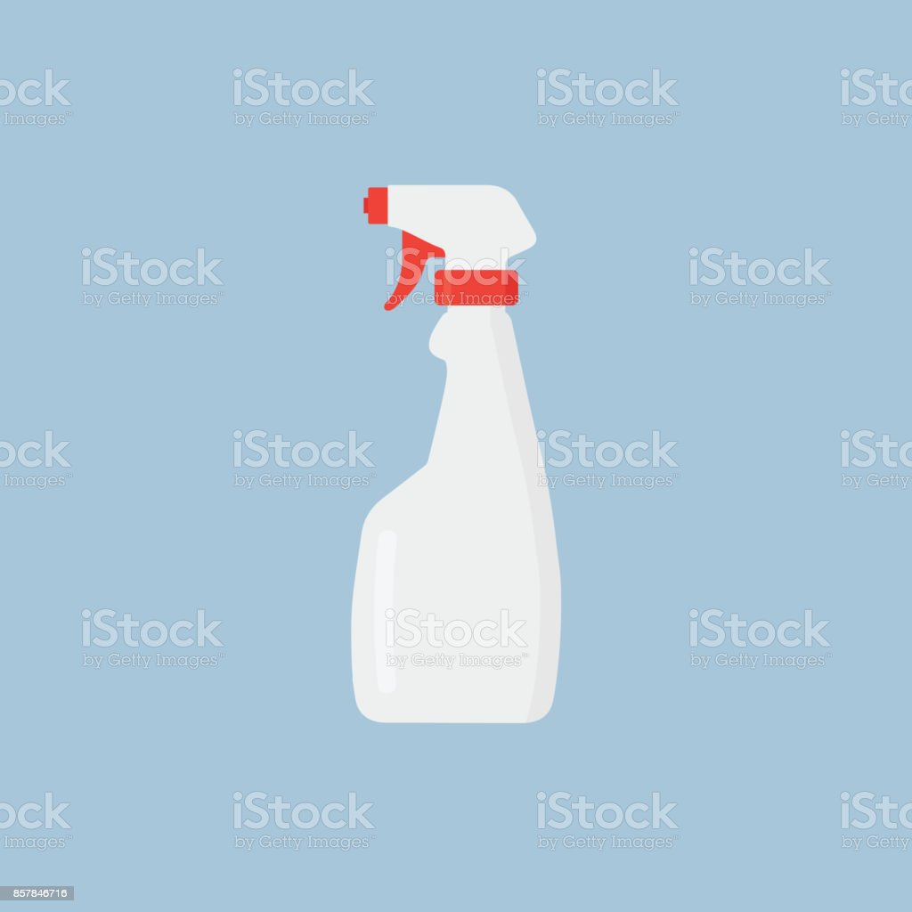 White Bottle Spray Cleaner Illustration vector art illustration