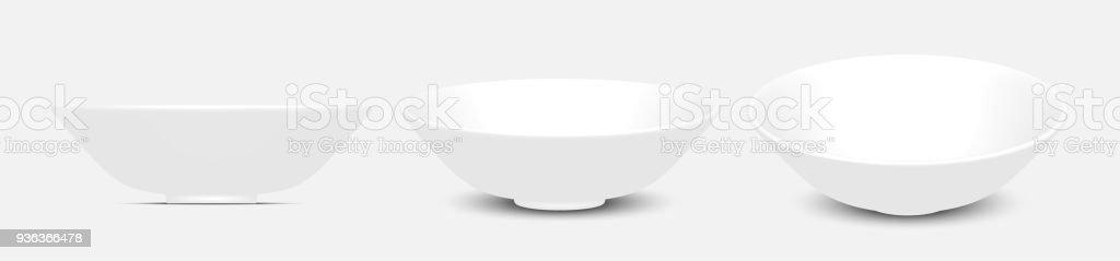 Bol blanc vecteur 3D - Illustration vectorielle