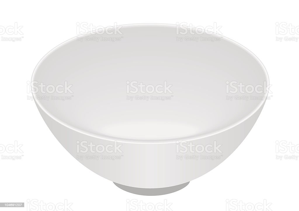 White bowl vector art illustration