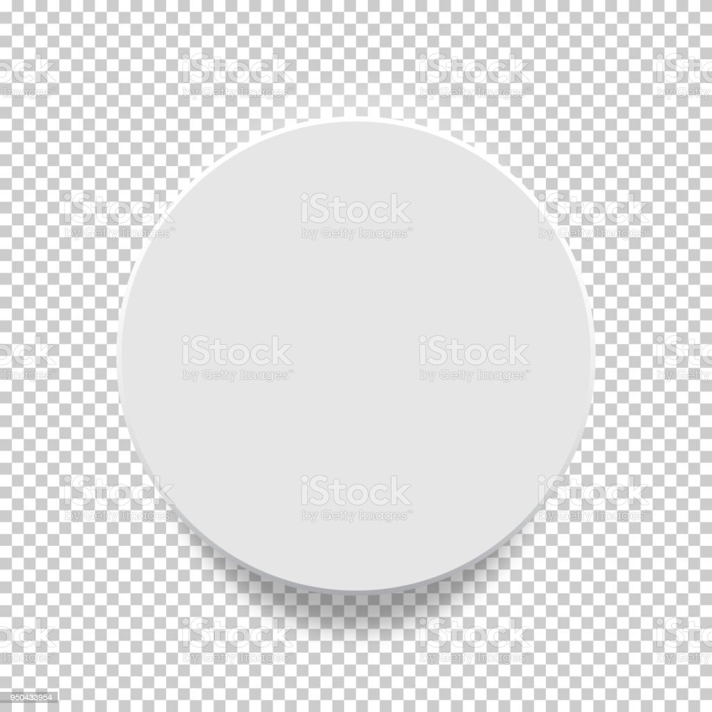 White Box Circle Mock Up Model 3d Top View With Shadow